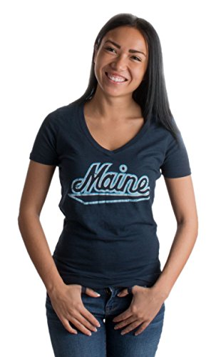 University of Maine | Maine Black Bears Vintage Style Ladies' V-neck T-shirt