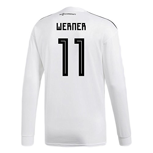 マウンドエンドウブラウンadidas WERNER # 11 Germany Home Soccer Long Sleeve Stadium Jersey World Cup Russia 2018/サッカーユニフォーム ドイツ ホーム用 ヴェルナー # 11 長袖