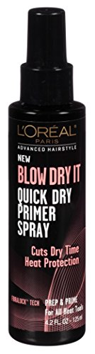 Loreal Blow Dry It Quick Dry Primer Spray 4.2 Ounce 124ml 6 Pack