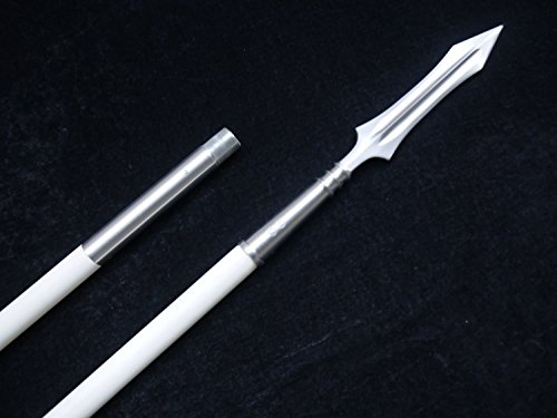Kung Fu Chinese martial arts equipment,Tai chi Spear(Stainless steel,Wax rod) Handmade,Length 78""