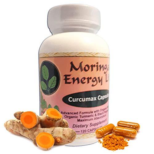 Curcumax – Turmeric Plus Moringa Capsules! – 100% Pure and Natural Turmeric Moringa Leaf Blend in 120 Capsules, 500 mg per Capsule. Vegan and Organic Curcumin ingest for Health and Vitality. Review