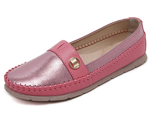 Fortuning's JDS Soft-soled Simple Style Metallic Casual Flat Shoes with String Red TPb9nZQHDZ