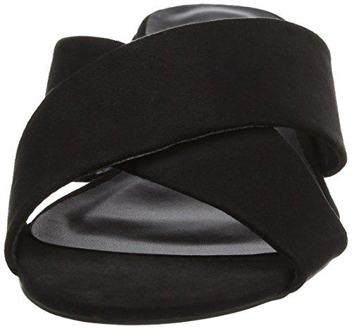 New Look Wide Foot Holanda - Sandalias con tacón Mujer Black (Black)