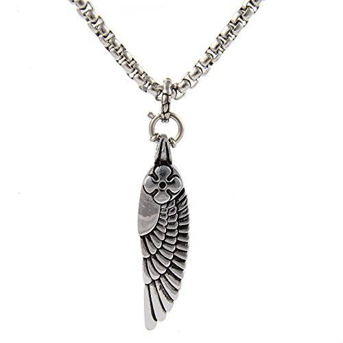 stainless steel angel pendent - 7