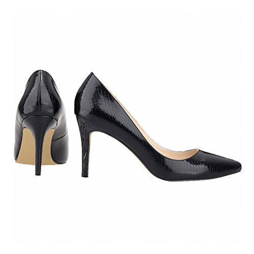 Haodasi Fashion Women Candy Color Crocodile Pattern Pointed Toe High Heels Pumps Shoes nwmaR