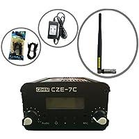 CZH CZE-7C FM Transmitter Mini Radio Stereo Station PLL LCD With Antenna Kit