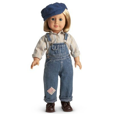 American Girl Kit's Hobo Bib Overalls Outfit with Hat for 18 Doll by American Girl