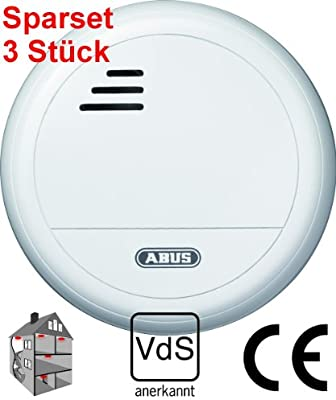 3 Set de ABUS detector óptico RM 10 VdS con batería