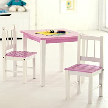 Swell Lipper Kids Small Pink And White Table And Chair Pabps2019 Chair Design Images Pabps2019Com