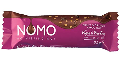 Vegan Fruit & Crunch Chocolate Bar (NOMO) 24 x 32g