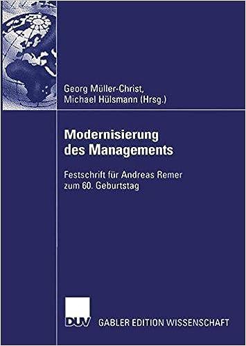 Book Modernisierung des Managements: Festschrift für Andreas Remer zum 60. Geburtstag