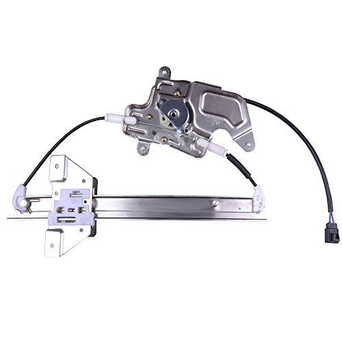 cciyu Rear Right Passengers Side Power Window Lift Regulator with Motor Assembly Replacement Replacement fit for 1999-2005 Pontiac Grand Am 4 Door 1999-2004 Oldsmobile Alero 4 Door ()