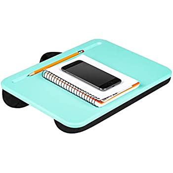 LapGear Compact Lap Desk - Aqua Sky - Fits Up to 13.3 Inch Laptops - Style No. 43109