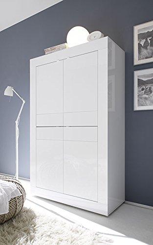 Zenzero Shop Credenza Moderna, Madia di Design, 4 Ante Alta, Bianco ...