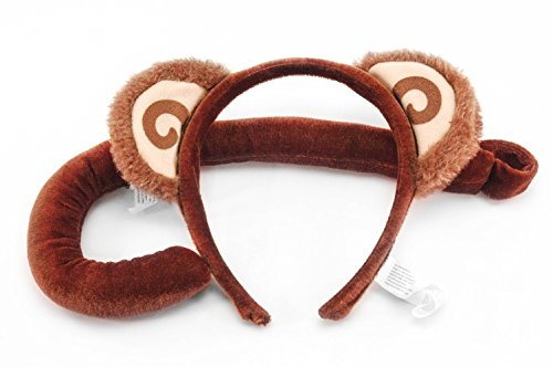 Monkey Ears Headband and Tail Kit by -