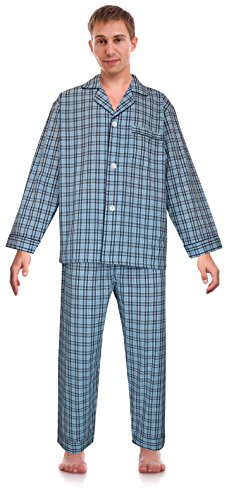 RK Classical Sleepwear Men's Broadcloth Woven Pajama Set, Size XX-Large