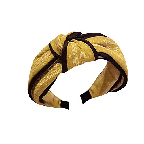 Londony ♥ Floral Print Yoga Sports Headbands for Women - Soft Elastic Stretch Girls Athletic Headbands Yellow