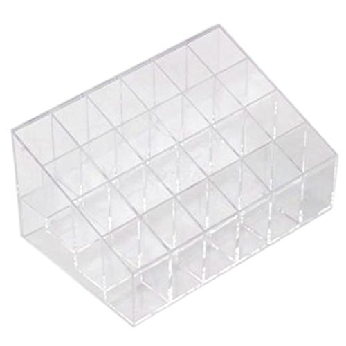 Goege 4 Tier 24 Spaces Clear Transparant Acrylic Lipstick Organizer & Beauty Care Holder & Cosmetic Organizer