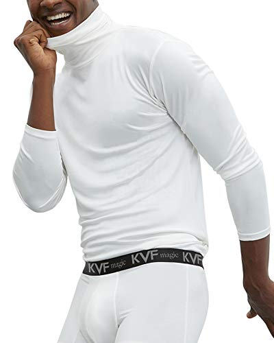 Achenaggg Gootuch Mens Cotton Long Sleeve Undershirts Turtleneck Baselayer