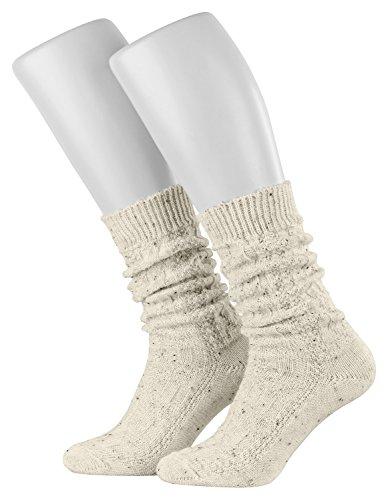Piarini Trachten-Socken mit klassischem Zopfmuster Farbe Beigemeliert Gr.39-42
