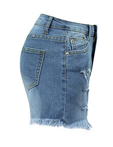 Jean Denim Legou Short Mini Slim Femme Fit Hotpant tqq7raU6