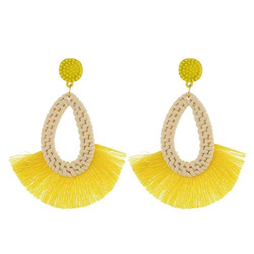 Earrings for Women,Mebamook FasFashion Shell Earrings Pendant Ladies Earrings Simple Paragraph Beach - Earrings Tube Threader Jewelry