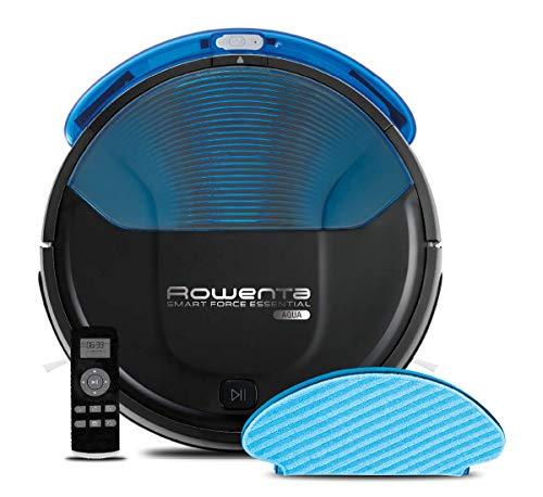 Rowenta RR6971WH Smart Force Essential Aqua – Robot Aspirador 2 en 1, Aspira y Friega, con Sensores Anticaída, 150…