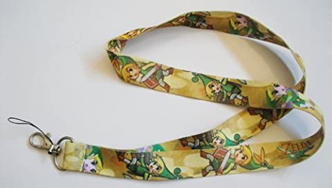 Legend of Zelda Gold Yellow Color Cell Phone Key ID Badge Lanyard Strap (Legends Of Na)