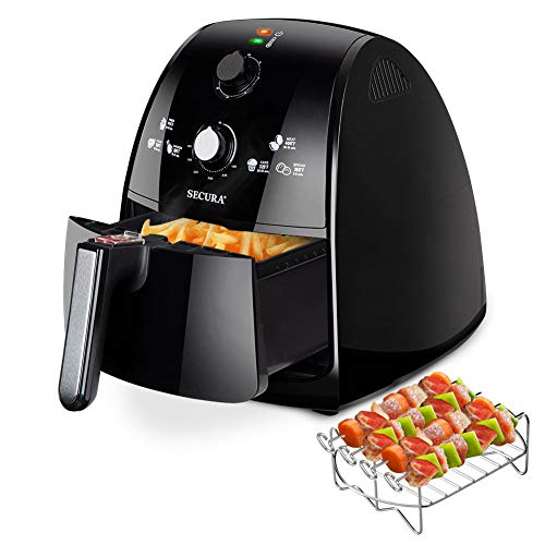 Secura Air Fryer 1500W Electric Hot Air Fryers Large 4.2Qt