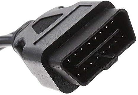 Proscan Automotive OBD Cavo di Estensione 16/Pin OBD2/Splitter Cavo di Estensione Maschio a Doppia Femmina y Cable 30/cm