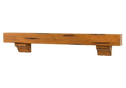 Breckenridge 72 Inch Fireplace Mantel Shelf Chestnut Rustic Finish