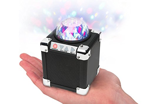 ION Audio Party On (ISP43) | Palm-Sized Bluetooth Speaker with Built-in Rechargeable Battery and Party Light Display (15W)