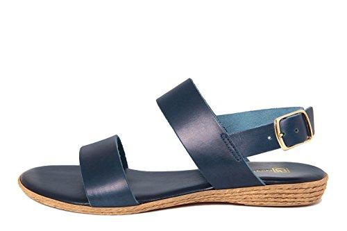 GAGLIANI RENZO - Sandalias de vestir de Piel Lisa para mujer azul azul