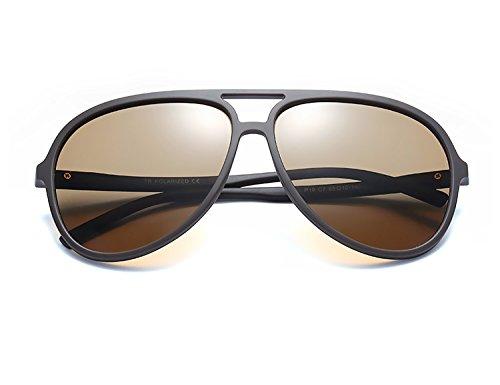 Femme Bmeigo noir Lunettes pour Soleil Polarisé Aviator Lunettes Unisex UV400 Cadre Vintage de Homme B7 Marron Conduire 16T1xr0
