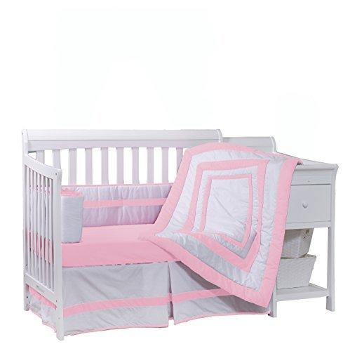 Baby Doll Bedding Modern Hotel Style Crib Bedding Set Pink [並行輸入品]   B07J9K91LM