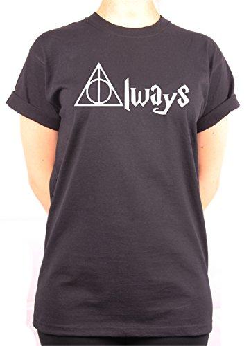 "TheProudLondon ALWAYS"" Unisex T-shirt (Small, Black)"