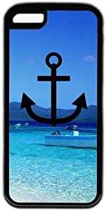 Beach Quote Anchor I Refuse To Sink Theme Iphone 5C Case by Maris's Diary