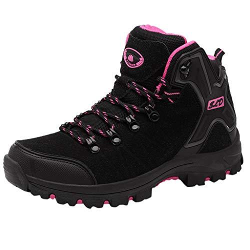 Fheaven Women Safety Boots Lace up Composite Toe Cap Kevlar Work Shoes Black