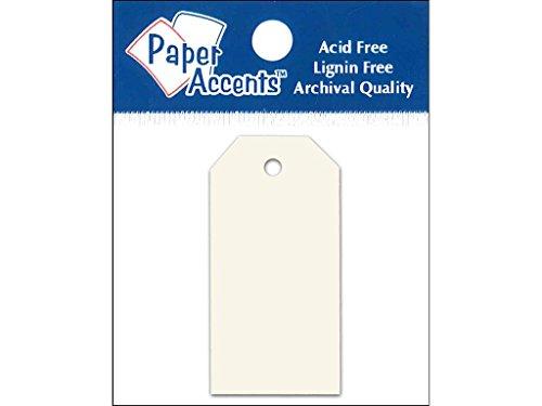Accent Design Paper Accents 0.875x1.75 Craft Tags Cream