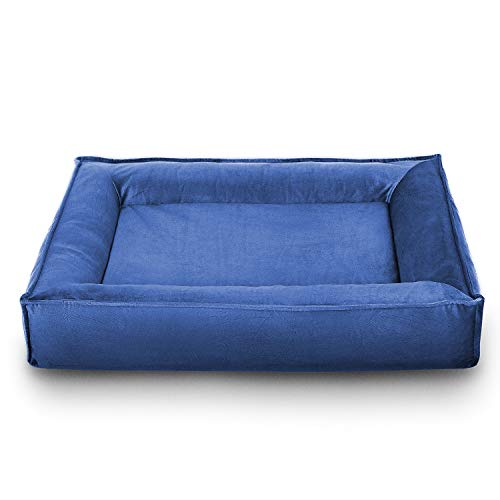 Petsbao [New] Memory Foam Dog Bed Urban Design (Small, Royal Blue)