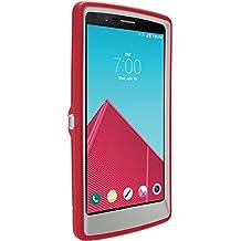 OtterBox Defender Case for LG G4 - Retail Packaging - Sleet Grey/Scarlet Red
