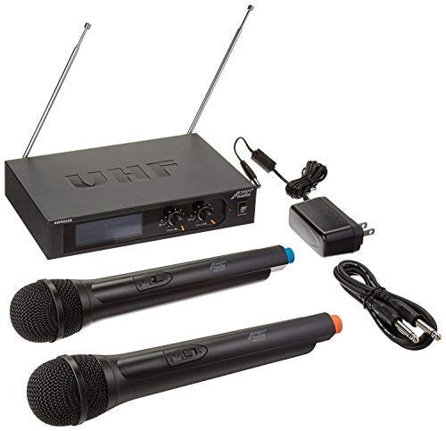 (Audio2000'S S6026 Two-Channel System with Two Handheld Wireless Microphones )