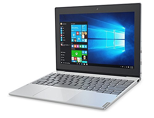 Lenovo Miix 320, 10.1-Inch Windows Laptop, 2 in 1 Laptop, (Intel Atom X5-Z8350, 1.44 GHz, 4 GB DDR3L, 64 GB eMMC, Windows 10 Home), Platinum, 80XF00DRUS