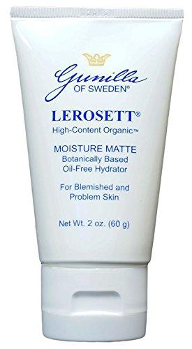 LEROSETT Moisture Matte Oil Free Acne Hydrator 2 oz: Based on Nutrient Rich Organic Aloe- for Oily, Combination, or Acne Prone Skin- Hydrates- Nourishes- Non-Comedogenic- Anti-inflammatory (Lerosett Moisture)