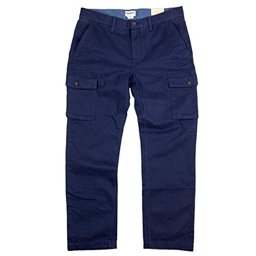 Timberland Men's Squam Lake Straight FIT Dark Navy Cargo Pants (34W x 32L)
