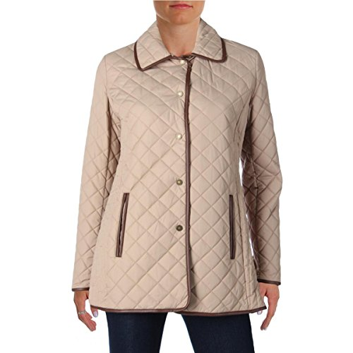 Lauren Ralph Lauren Womens Quilted Lightweight Coat Tan - Cheap Lauren Ralph