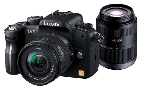 パナソニック デジタル一眼カメラ LUMIX (ルミックス) G1 Wレンズキット コンフォートブラック DMC-G1W-K   B001FWYH3I