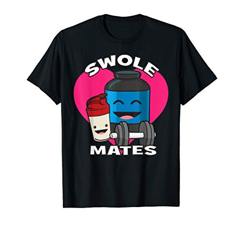 Swole Mates - Protein Shake - Cartoon - Gym - Swole Protein