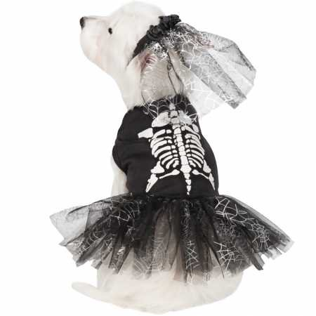 Casual Canine Glow-in-The-Dark Skeleton Zombie Dog Costumes, -