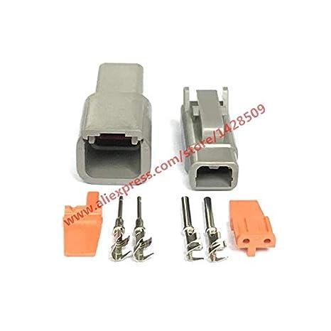 Davitu 10 Sets Deutsch DTM 2 Pin DTM06-2S / ATM06-2S DTM04-2P / ATM04-2P Waterproof Electrical Connector Inlet Air Temperature Sensor - - Amazon.com